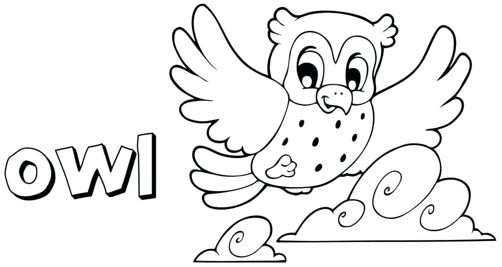 1024x545 Owl Coloring Pages Printable Cartoon Owl Coloring Pages Cute