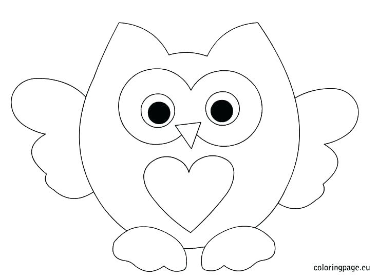 736x544 Owl Coloring Pages To Print Baby Owl Coloring Page Cute Cartoon