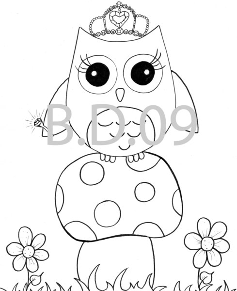 489x600 Owls Coloring Pages