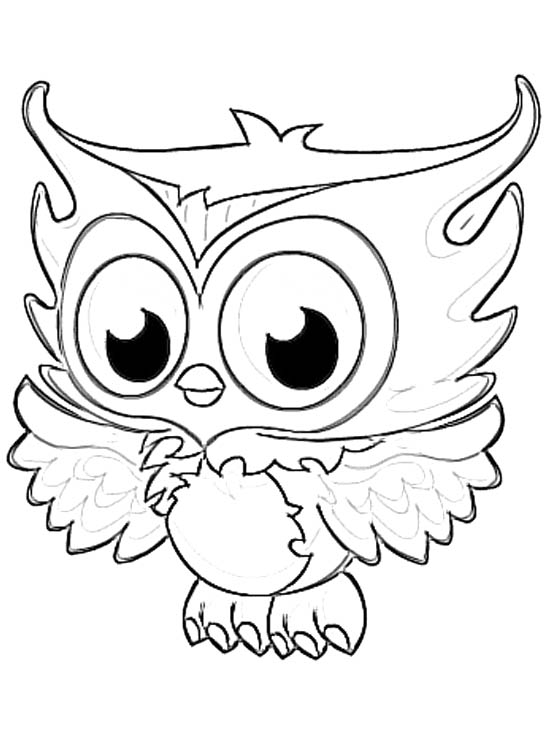 546x737 Baby Owl Coloring Pages