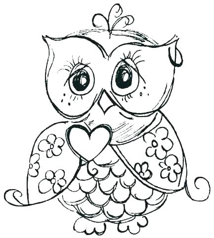 433x482 Baby Owl Coloring Pages Baby Owl Coloring Pages For Adults Copy