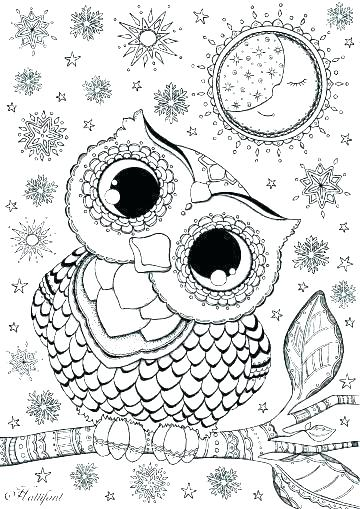 360x509 Cute Owl Coloring Pictures Cute Owl Coloring Pages Baby Owl
