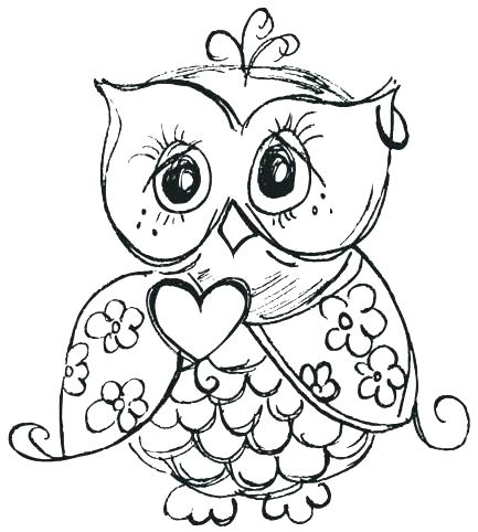 433x482 Owl Coloring Pages Free Baby Owl Coloring Page Baby Owl Coloring