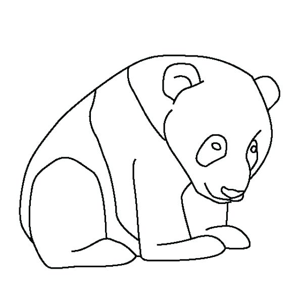 600x600 Panda Coloring Page Little Baby Panda Coloring Page Free Baby