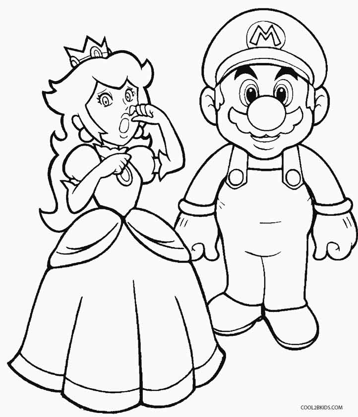 722x842 Fresh Inspiration Princess Peach Coloring Pages Baby Of Mario