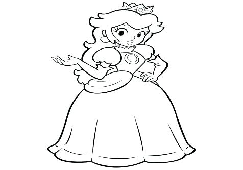 476x333 Peach Coloring Page Baby Princess Peach Coloring Pages Page