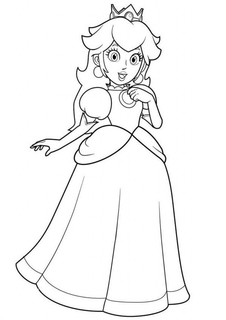 Free Princess Daisy Coloring Page, Download Free Clip Art, Free ... | 1024x724