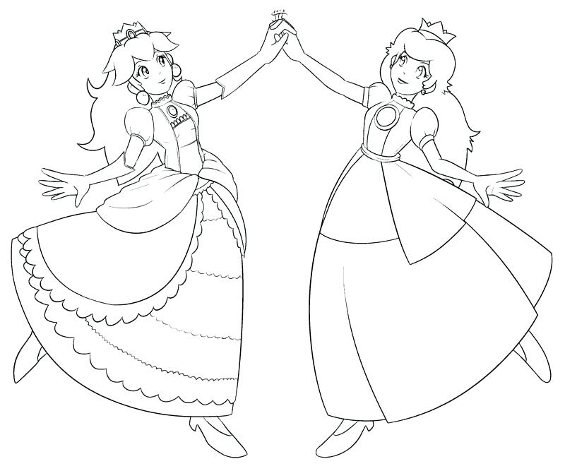 800x667 Princess Peach Coloring Pages To Print Free Many Interesting Free
