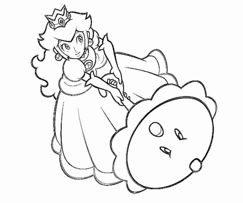 800x667 Princess Peach Coloring Pages To And Print For Free Baby Peach