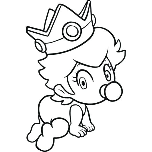 530x530 Baby Luigi Coloring Pages And Princess Peach Coloring Pages
