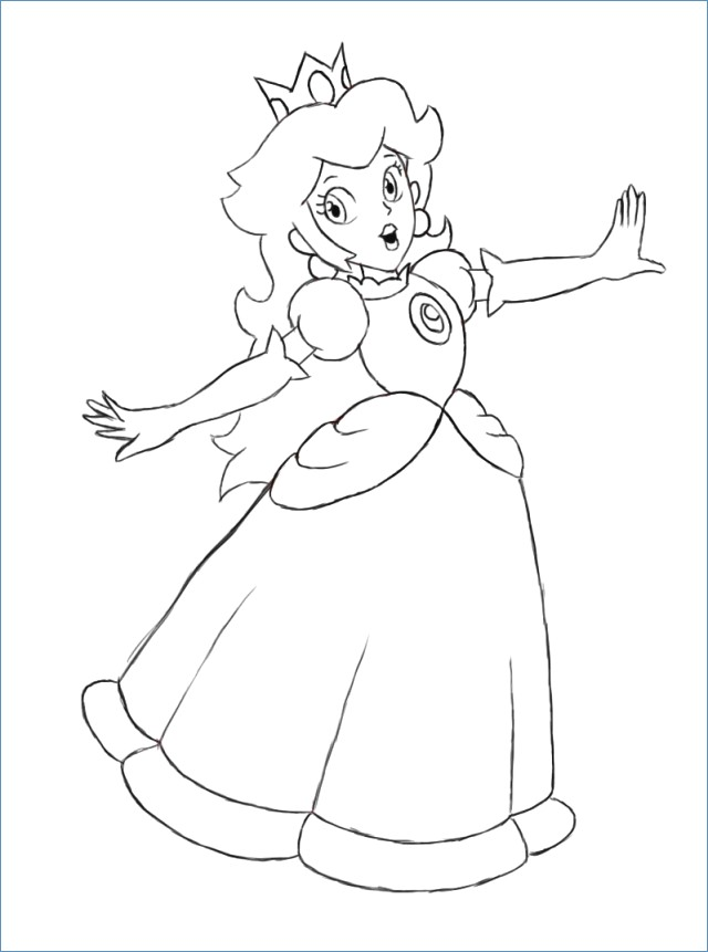 640x861 Baby Mario Coloring Pages