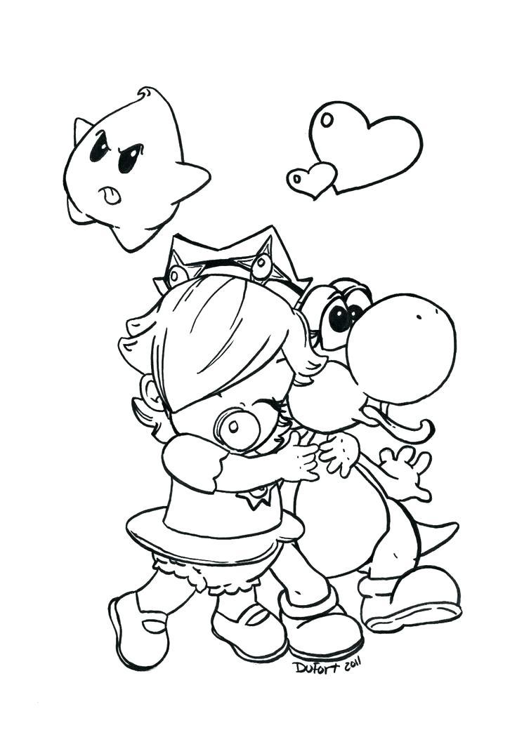 736x1040 Baby Princess Peach Coloring Pages Rosalina And Luma Coloring