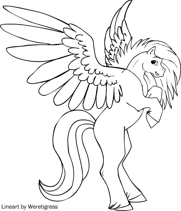 600x698 Pegasus Coloring Pages