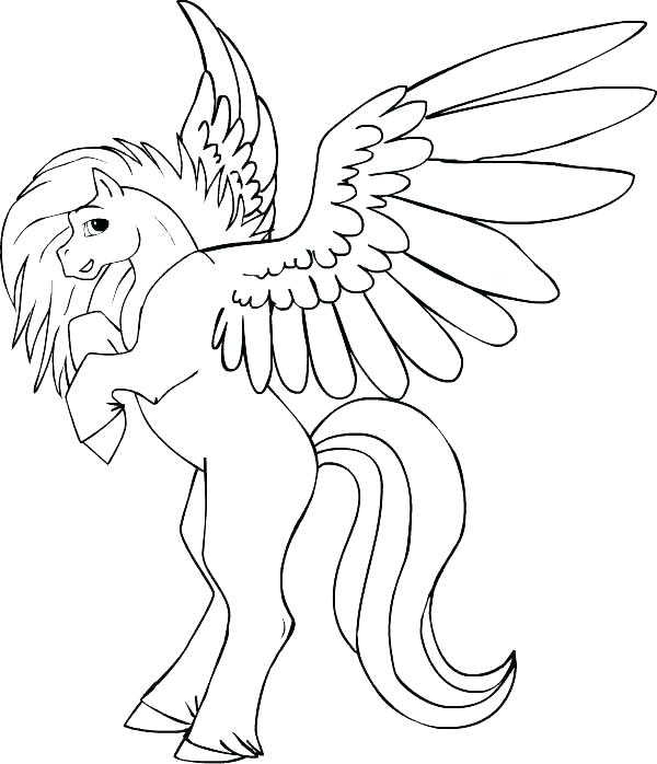 600x698 Pegasus Coloring Pages Coloring Pages To Print Baby For Pegasus
