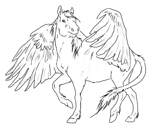 570x440 Pegasus Coloring Pages Printable Coloring Pages For Kids Cute Baby