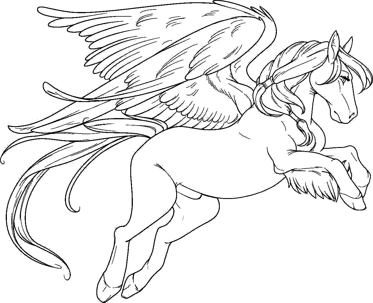 1300x1057 Winsome Design Pegasus Coloring Pages To Print For Adults Pony