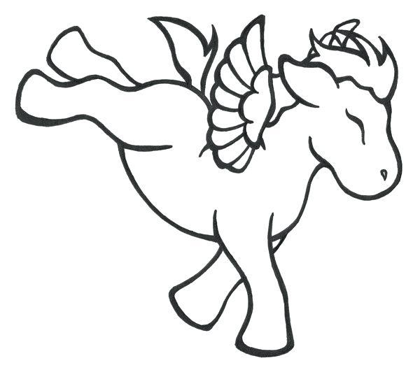 600x529 Pegasus Coloring Page For Kids Usedauto Club