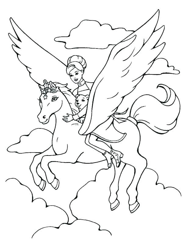 600x800 Pegasus Coloring Page