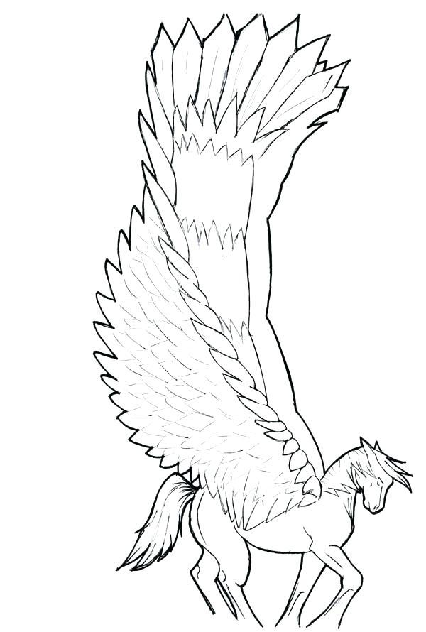 600x890 Galaxy Pegasus Coloring Pages Kids Waving His Wings Page Sleeping