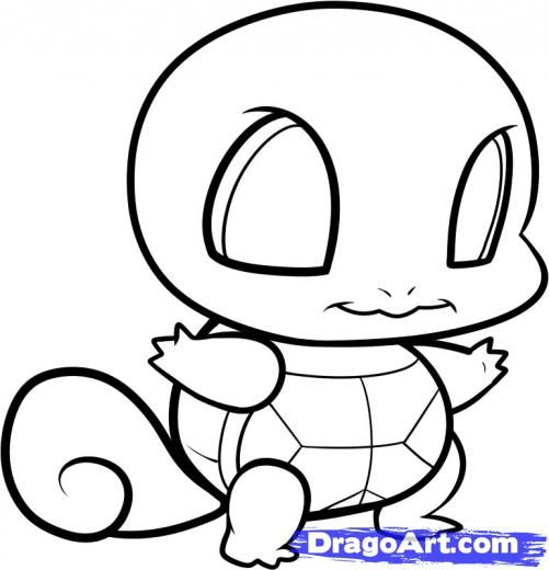 501x520 Chibi Squirtle Coloring Pages