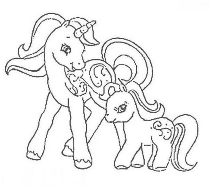678x600 Baby Pony Coloring Pages Ba Pony Coloring Pages Coloring Beach