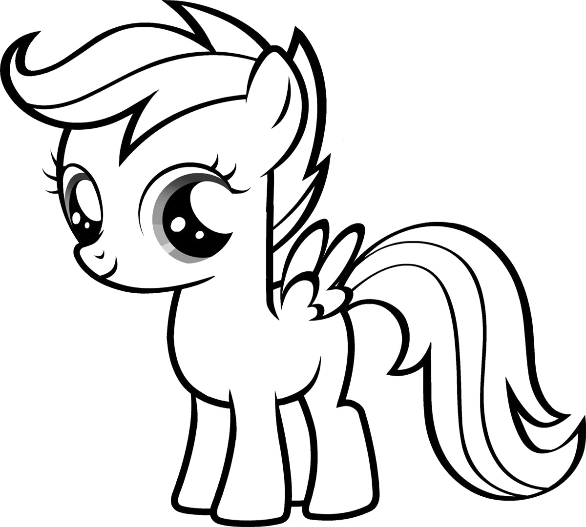 1200x1080 My Little Pony Baby Coloring Pages