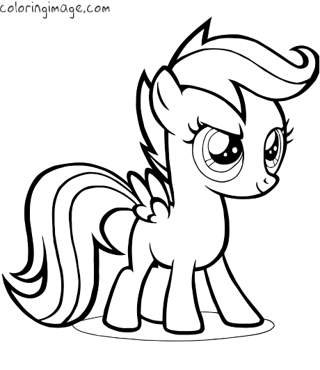 460x531 My Little Pony Coloring Page