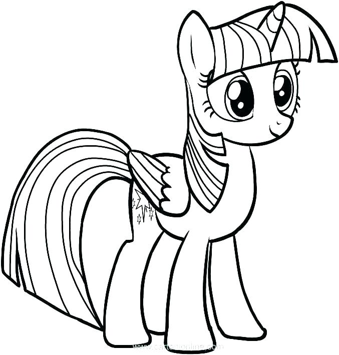 677x709 Pony Coloring Pages