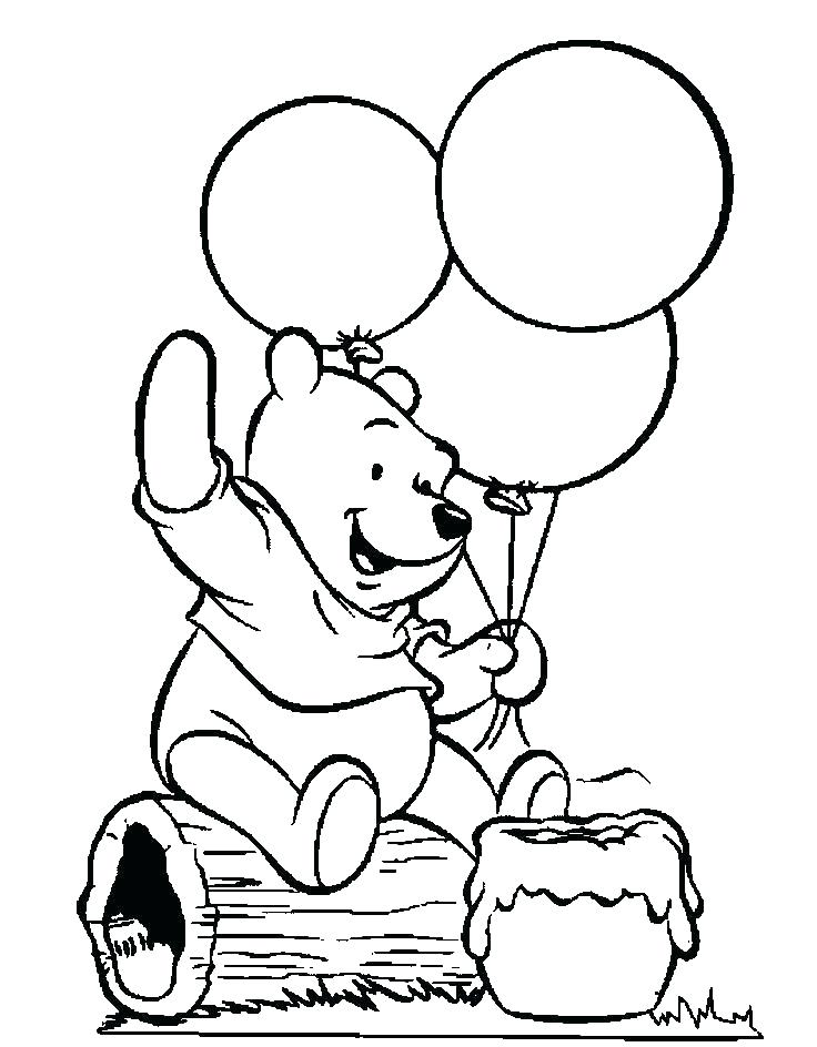 Baby Pooh Bear Coloring Pages at GetDrawings.com | Free for ...