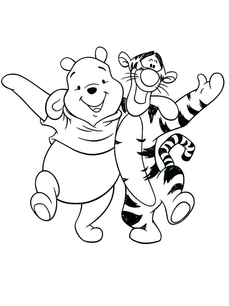 Baby Pooh Bear Coloring Pages at GetDrawings.com | Free for personal ...