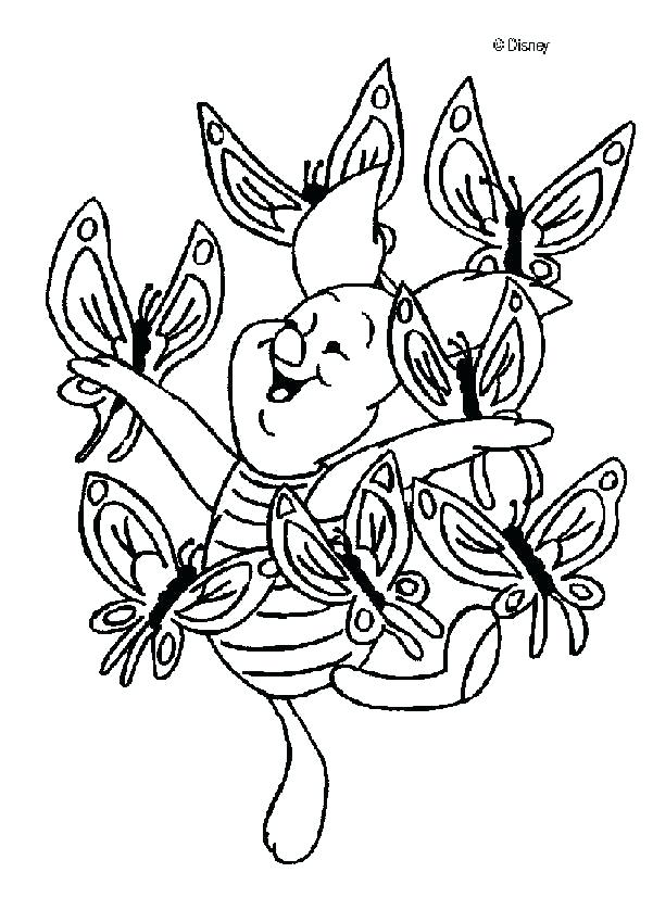 601x850 Pooh Coloring Pages Piglet Piglet With A Butterfly Coloring Page