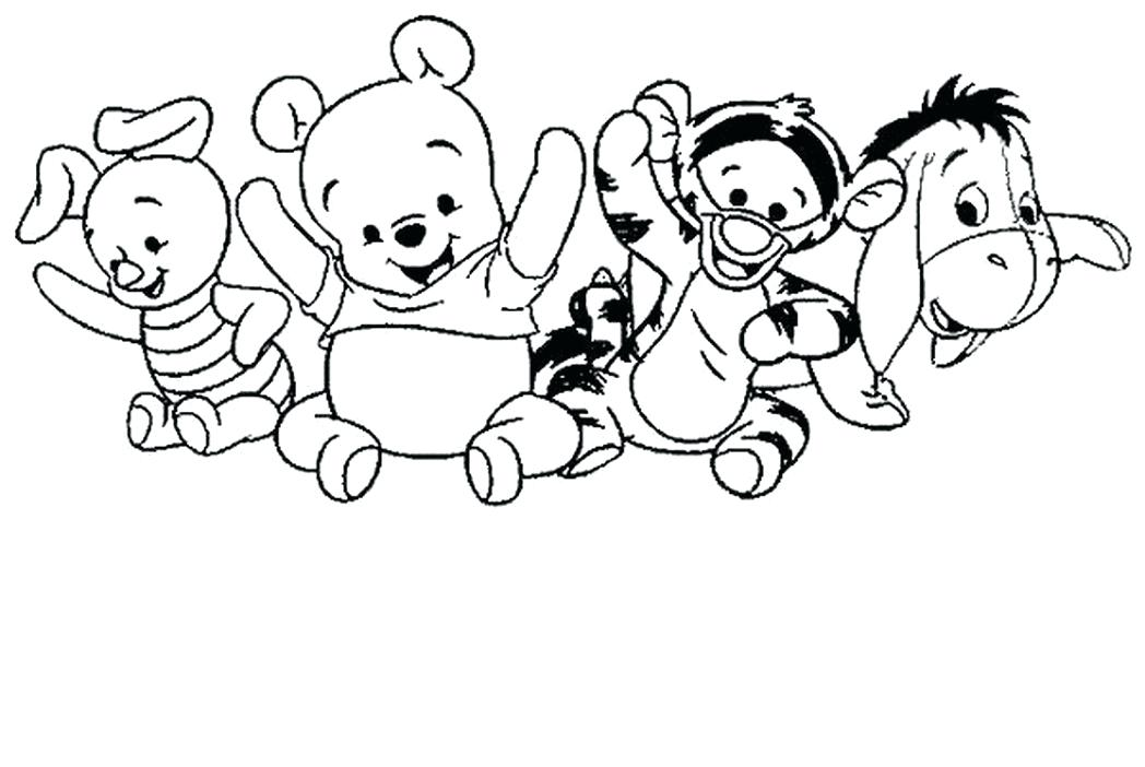 1048x702 Baby Winnie The Pooh Coloring Pages Baby Pooh And Tiger Coloring