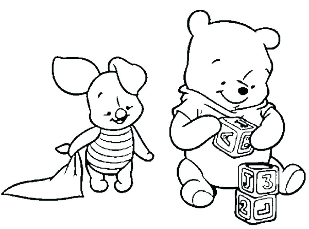 1024x757 Baby Winnie The Pooh Coloring Pages The Pooh And Friends Coloring