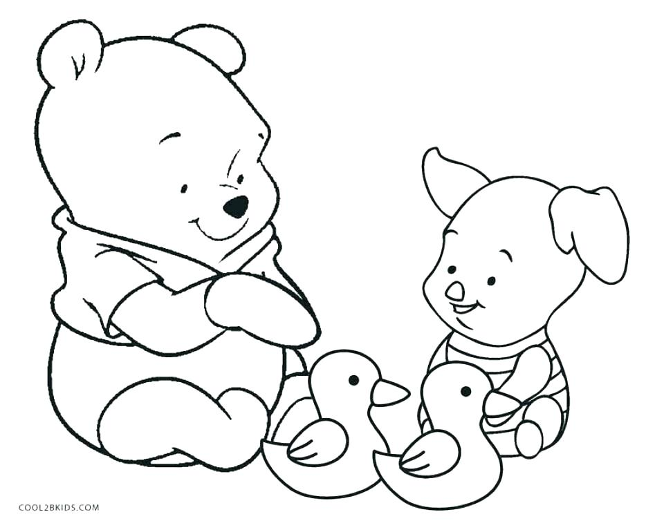 960x754 Winnie The Pooh And Friends Coloring Pages Baby The Pooh Coloring