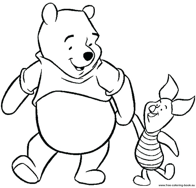 800x769 Winnie The Pooh Coloring Page The Pooh Coloring Pages Online New