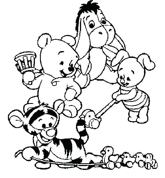 582x627 Winnie The Pooh Para Colorear Baby The Pooh Coloring Pages Dibujos