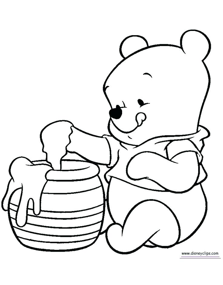 736x940 Baby Winnie The Pooh Coloring Sheets