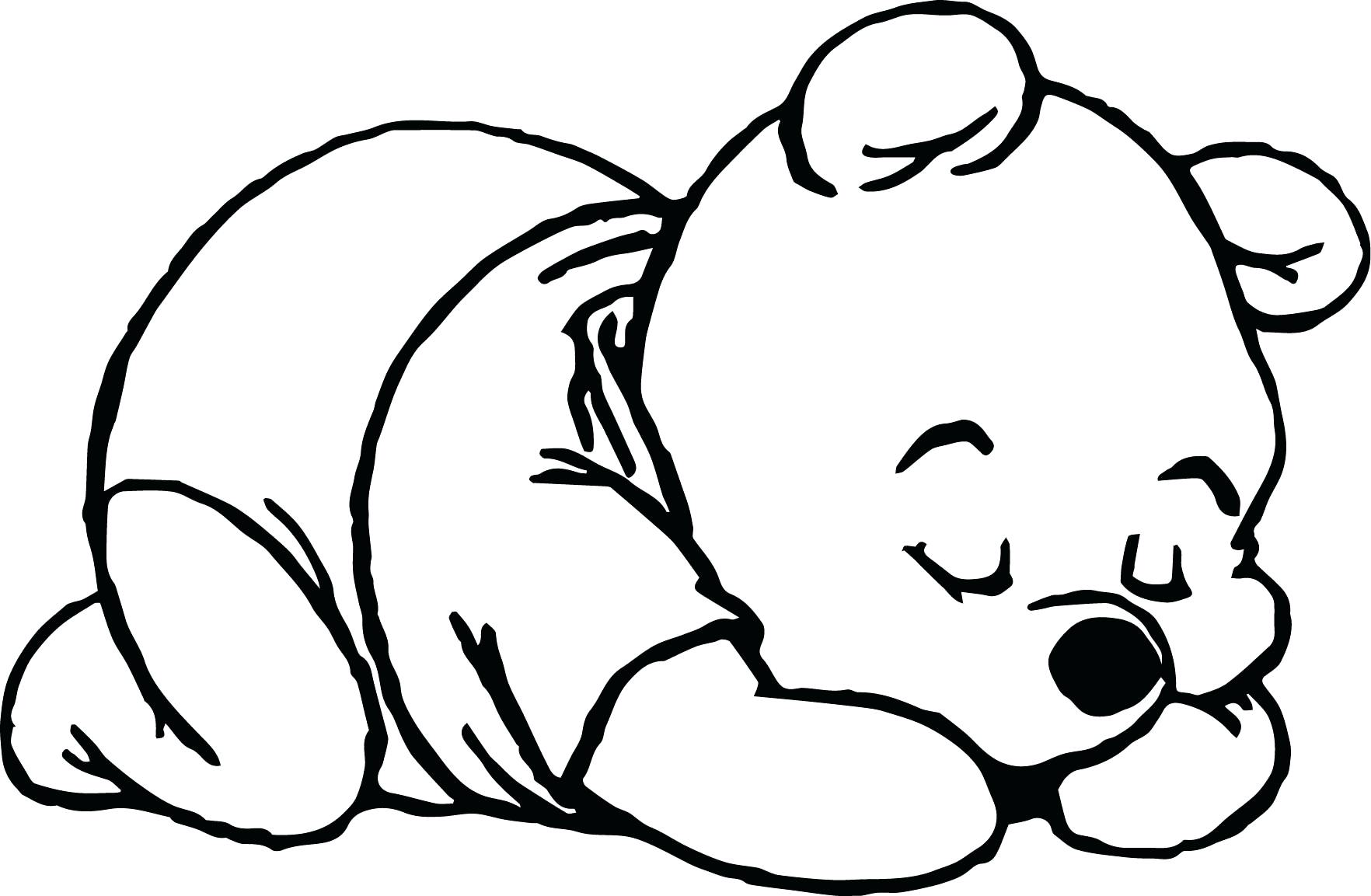 1764x1153 Coloring Pages Pooh Coloring Pages Sleep Baby Page Cute Bear