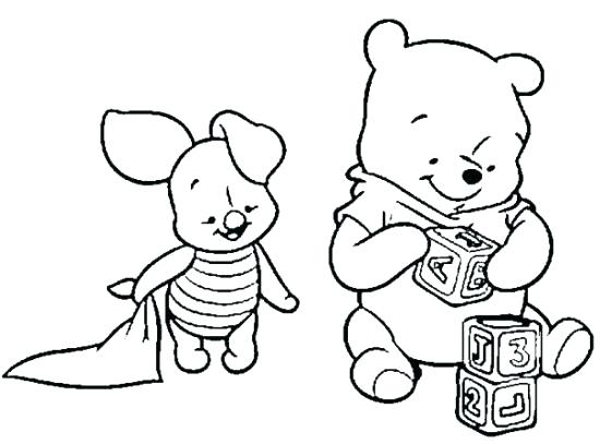 550x407 Baby Pooh Coloring Pages Baby The Pooh Coloring Pages Baby Baby