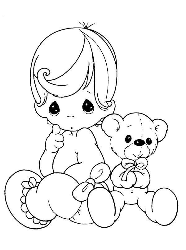 600x806 Precious Moments Coloring Pages Doctor Baby Precious Moments