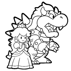 Baby Princess Peach Coloring Pages