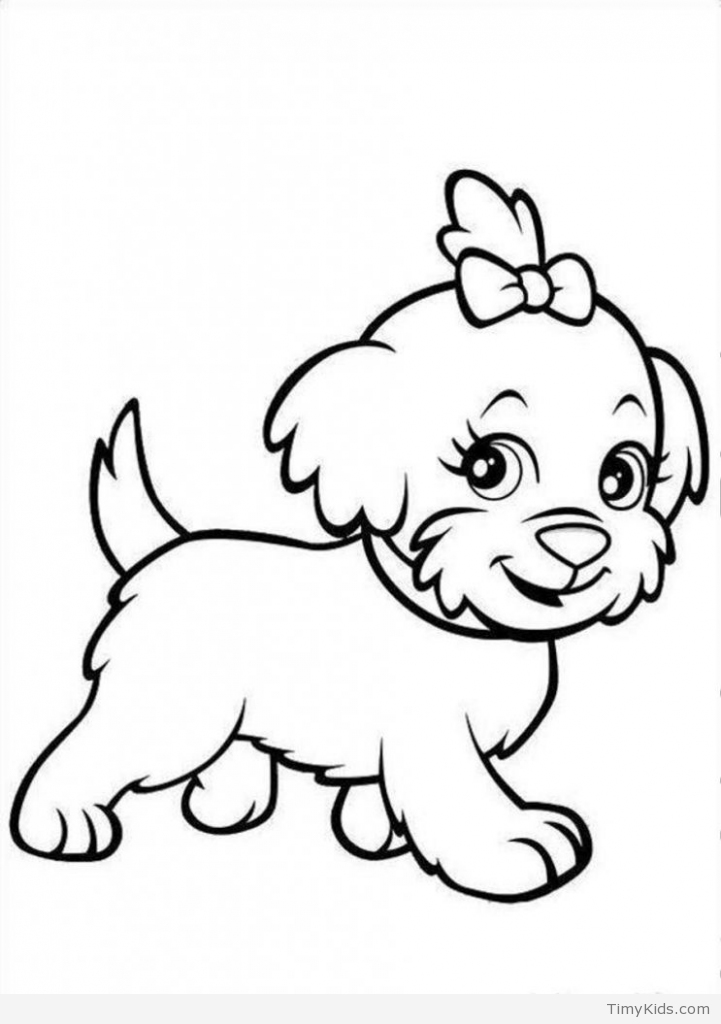Baby Puppy Coloring Pages