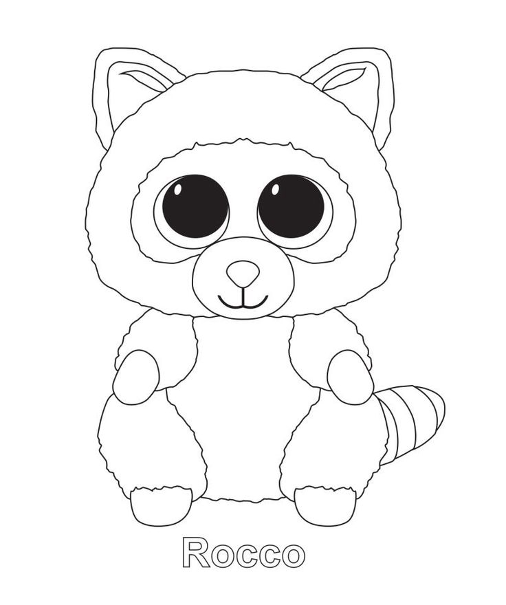 736x880 Ty Beanie Boo Coloring Pages Download And Print For Free Beanie