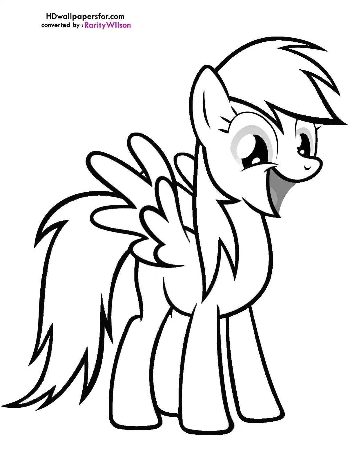 Baby Rainbow Dash Coloring Pages