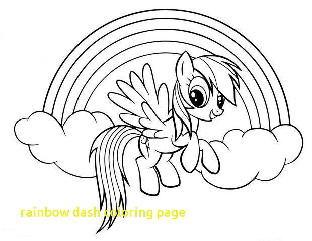 Baby Rainbow Dash Coloring Pages At Getdrawings Com Free For