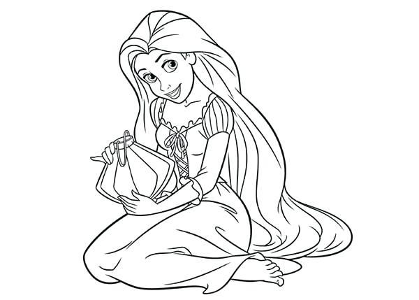 600x429 Rapunzel For Coloring Coloring Pages Princess Baby Rapunzel
