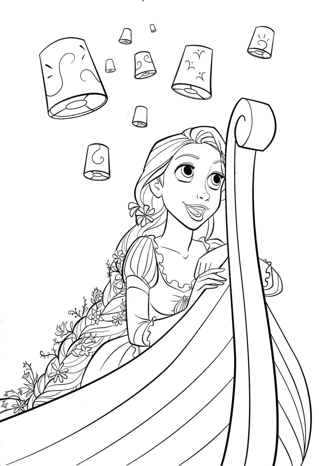 1024x1496 Coloring Pages Rapunzel Coloring Pages Tangled Tower Rapunzel