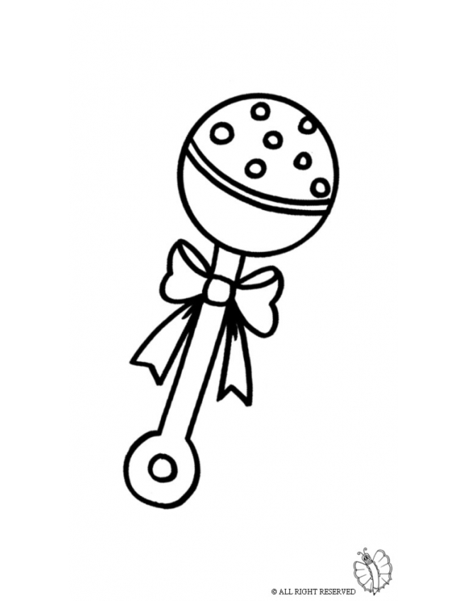 660x847 Coloring Page Of Rattle For Baby For Coloring For Kids