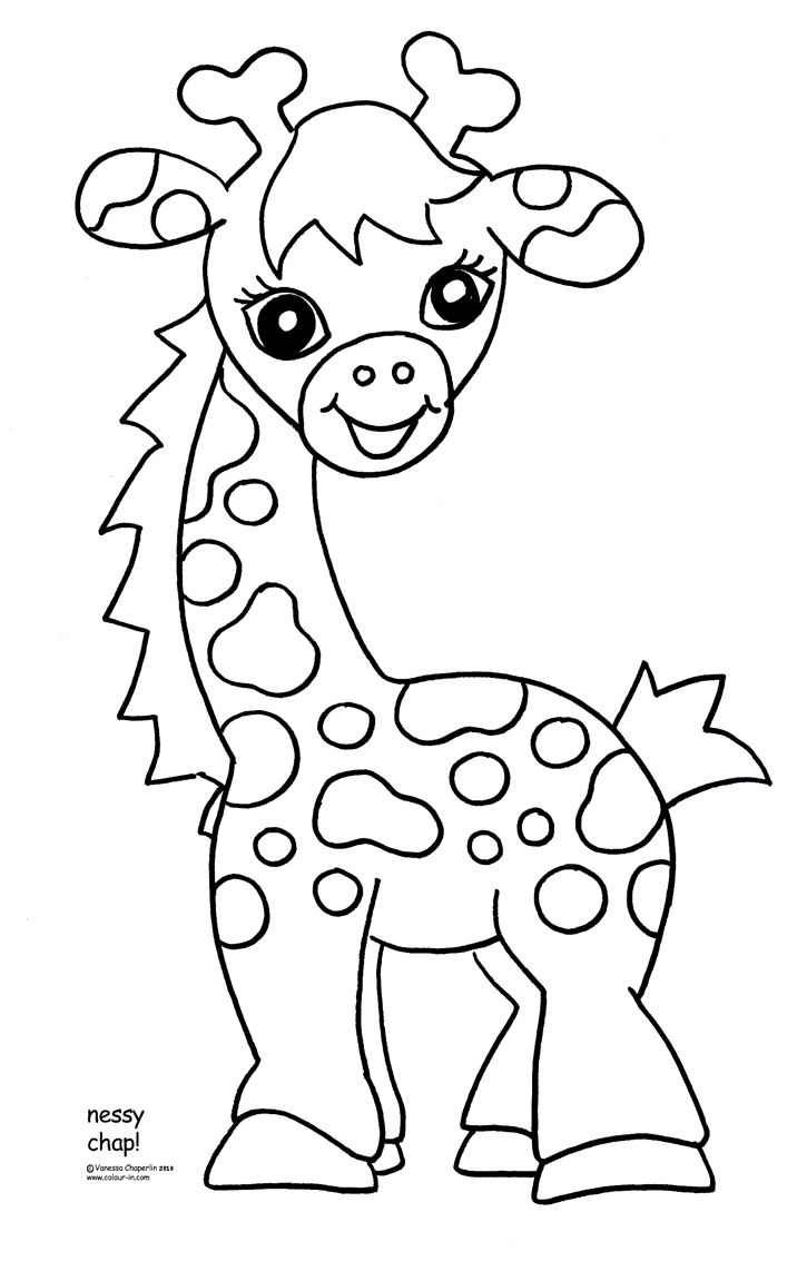 725x1142 Giraffe Baby Shower Cakes Coloring Pages For Kids New Glum Me