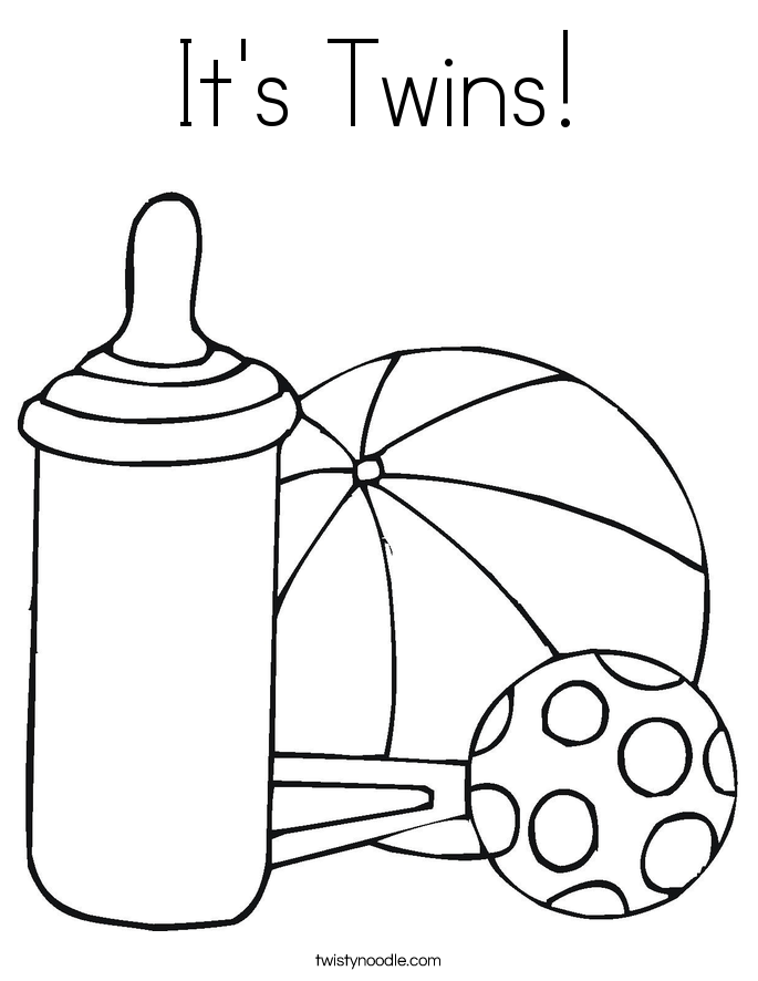 685x886 It's Twins Coloring Page